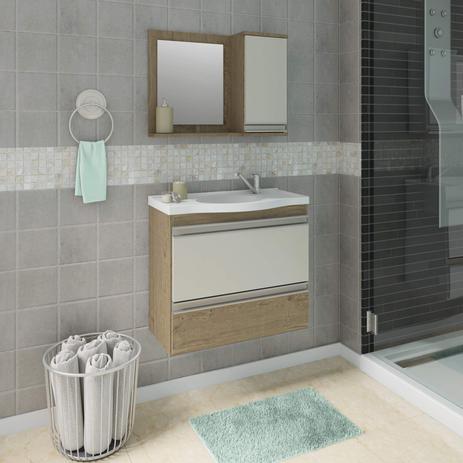 Imagem de Gabinete para Banheiro com Cuba e Espelheira Grécia MGM Móveis