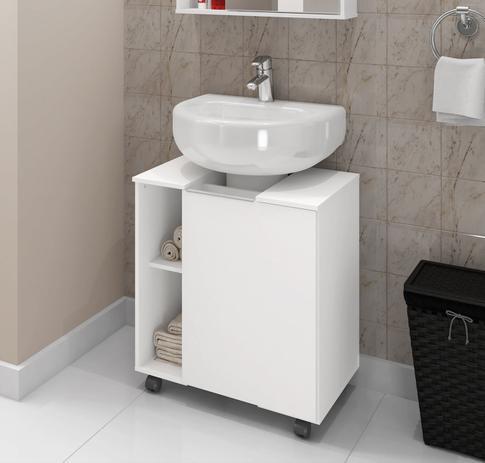 Imagem de Gabinete para Banheiro Pequim Branco