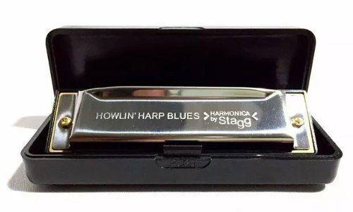 Imagem de Gaita Harmônica Blues Stagg Bjh-b20c Dó C 20 Vozes Diatônica
