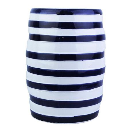 Imagem de Garden Seat Cerâmica Branco e Azul 46x33cm - A/CASA