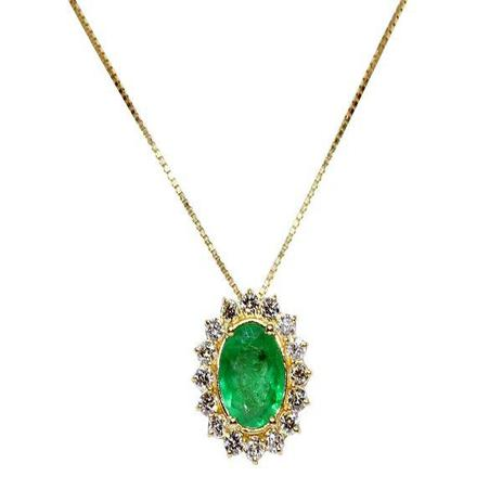db0e7cb94e5d0 Gargantilha ouro 18k diamantes e esmeralda - Retran joias - Colar ...