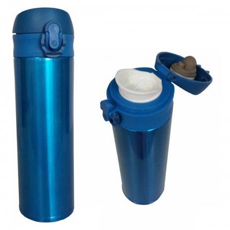 Imagem de Garrafa Cantil Squeeze Térmico Com Tampa - 500 ML - azul