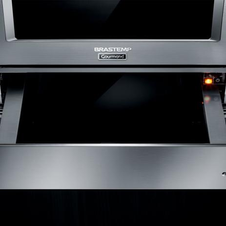 Imagem de Gaveta Aquecida de embutir Brastemp Gourmand inox com capacidade de até 25kg   - BOE15AR