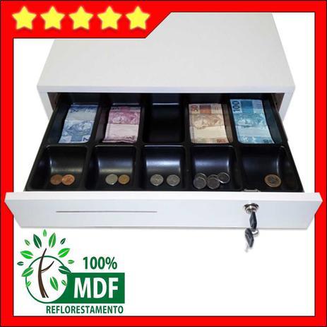 Imagem de gaveta caixa para dinheiro em MDF branco