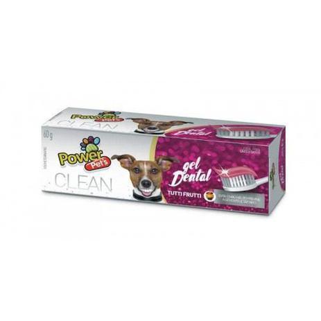 Imagem de Gel dental para cães e gatos Clean Power Pets creme dental para cachorro Tutti Frutti 60g