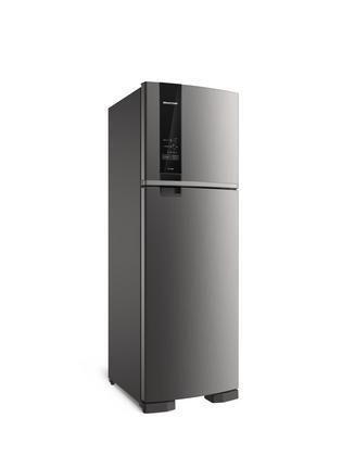 Imagem de Geladeira Brastemp Frost Free Duplex 400 litros cor Inox com Freeze Control BRM54HK - 127V