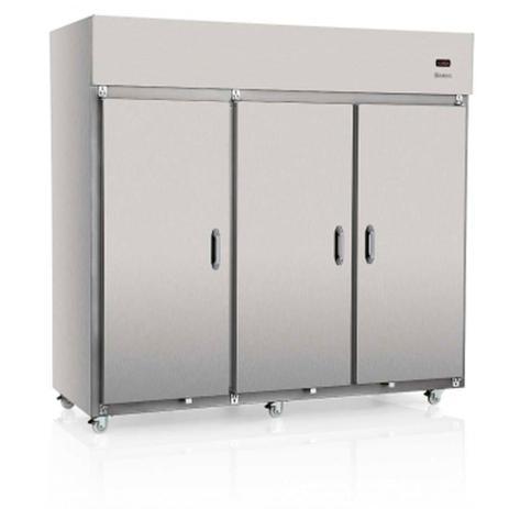 Imagem de Geladeira/Refrigerador Comercial Aço Revestido com Película Tipo Inox 3 Portas Cegas GRCS-3P Gelopar