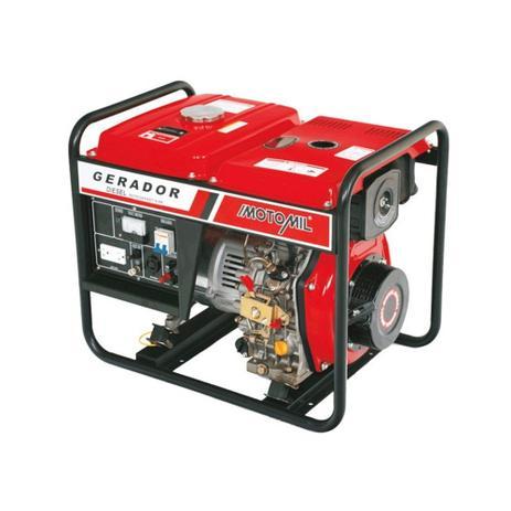 504de0c0216 Gerador de Energia a Diesel de 5000W - 5 KVA - Trifásico - Motomil  MDGT-5000CLE