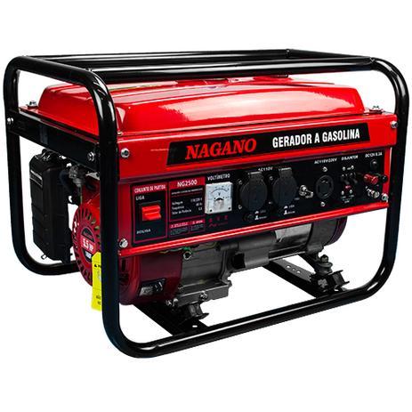 f0dcc6e12cb Gerador de Energia a Gasolina 2.2 KVA Monofásico Partida Manual NG2500 -  Nagano