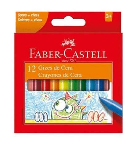 Imagem de Giz de Cera 12 Cores 141012N-Faber Castell