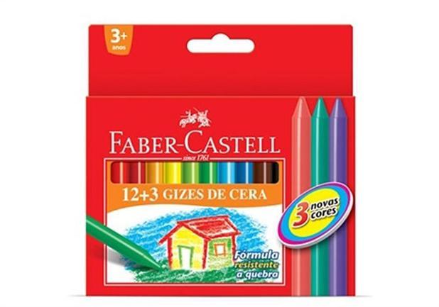 Imagem de Giz de Cera 15 Cores Faber-castell