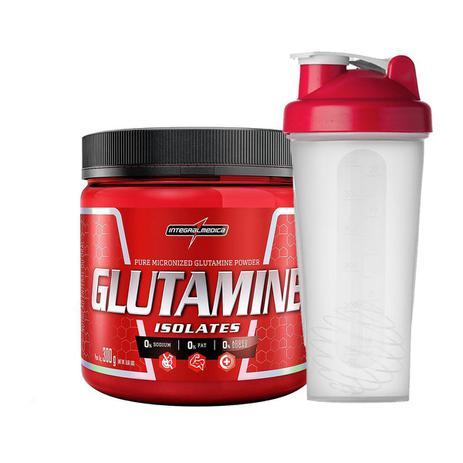 Imagem de Glutamina Isolates Natural 300g + Coqueteleira Integralmedica