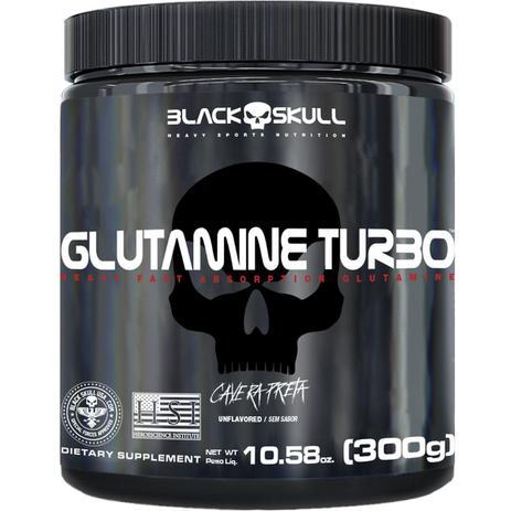 Imagem de Glutamine turbo caveira preta - glutamina - 300g
