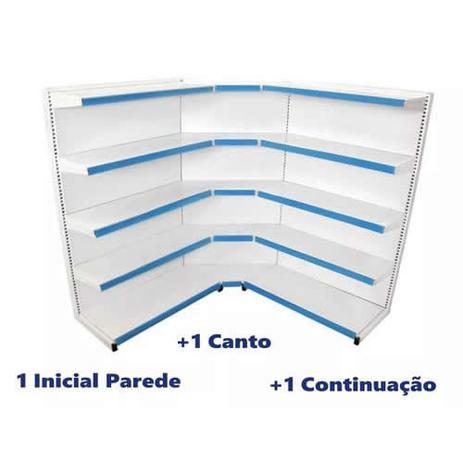 Imagem de Gondola Parede 160 3 Metros 1 Inicial 1 Canto 1 Continuação
