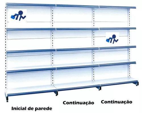 Imagem de Gondola Parede Amapa 170 3 Metros 1 Inicial 2 Continuação