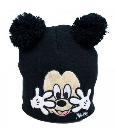 3a57a05e6c2c5 Gorro Preto Mickey Pompom 21X22cm - Disney - Boné Infantil ...