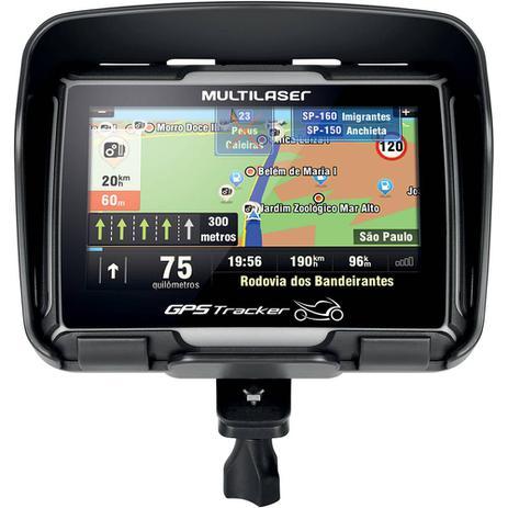 Imagem de GPS Multilaser Tracker para Moto com Tela Touch Screen de 4,3