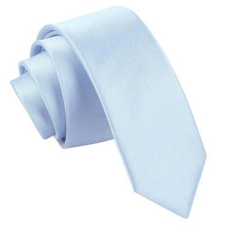 Imagem de Gravata Azul Serenity Slim Fit Luxo