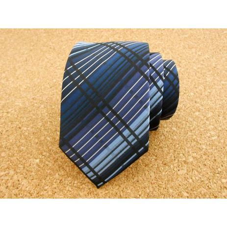 b49a9ef30711b Gravata xadrez azul em degradée - Gravatas grongo - Gravata ...
