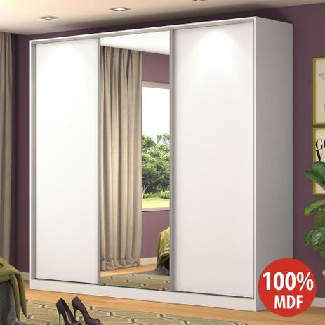 Imagem de Guarda-Roupa Casal 3 Portas Correr 1 Espelho Rc3001 Branco - Nova Mobile