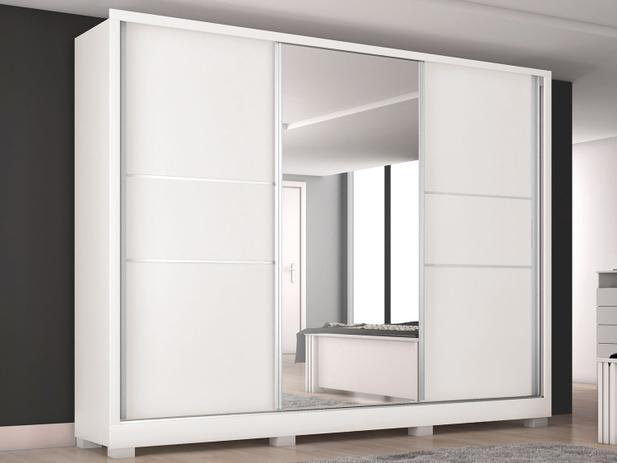 070410154 Guarda-roupa Casal 3 Portas de Correr 3 Gavetas - Europa Maranello 11617.1  com Espelho