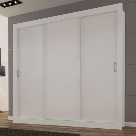 Imagem de Guarda Roupa Casal 3 Portas de Correr Smart Siena Móveis Branco