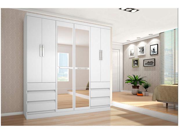 Imagem de Guarda-roupa Casal 6 Portas 6 Gavetas Araplac