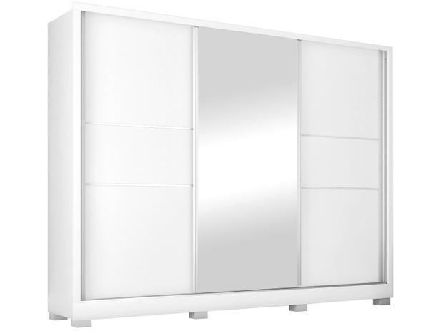 Imagem de Guarda-roupa Casal com Espelho 3 Portas de Correr