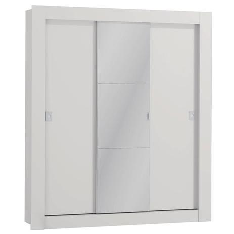 Imagem de Guarda Roupa Casal Kappesberg Com Espelho 3 Portas De Correr Branco