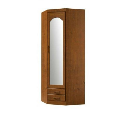 Imagem de Guarda Roupa Finestra 1063T 1 Porta c/Espelho de Canto Parma Imbuia