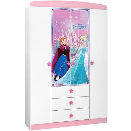 57a950c0fa Guarda-Roupa Infantil Frozen Disney Star 4 Ptas Pura Magia - Guarda ...