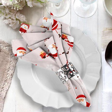 Imagem de Guardanapo de Natal Papai Noel com Boneco de Neve