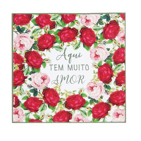 Imagem de Guardanapo De Papel C/20Folhas Decoração Natal 25Cm C/Rosas