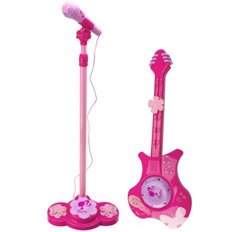 Imagem de Guitarra Elétrica e Microfone da Barbie