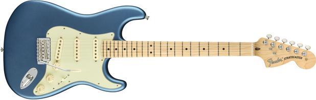 Imagem de Guitarra fender 011 4912 - am performer stratocaster mn - 302 - satin lake placid blue