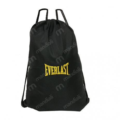 5994b786c0022 Gym Sack Bolsa Sacola para Acessorios Esportivos Preta Everlast