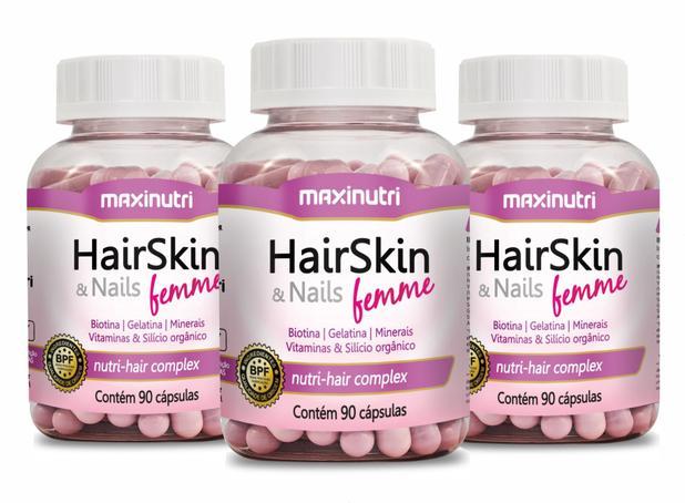 Imagem de Hair Skin  Nails Femme 3x90 Capsulas Maxinutri