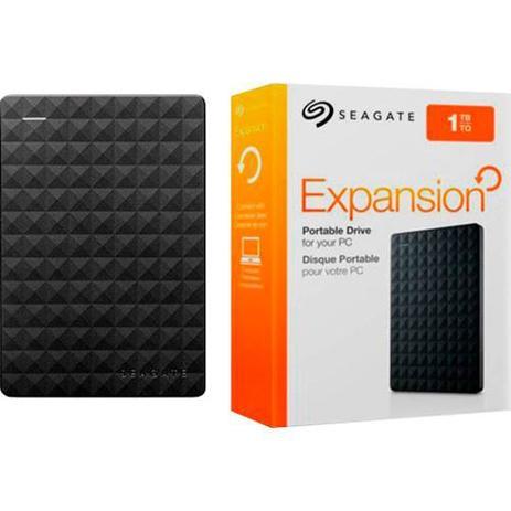 Imagem de HD Externo Portátil Seagate Expansion 1TB USB 3.0 Preto