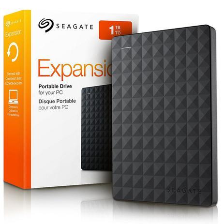 Imagem de HD Externo Portátil Seagate Expansion 1TB USB 3.0  Super Premium