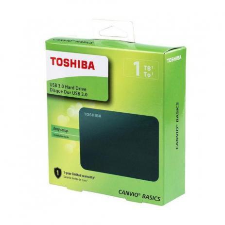 Imagem de HD Externo Toshiba 1TB USB 3.0 5400rpm Preto