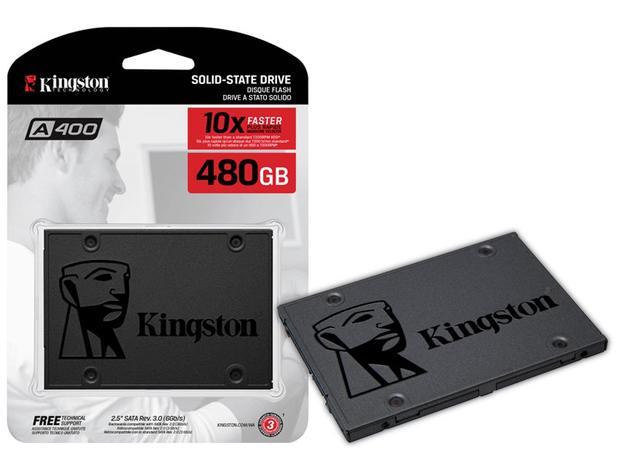 Imagem de HD SSD 480GB Sata3 Kingston A400 Leituras: 500MBs / Gravações: 450MBs  SA400S37/480G