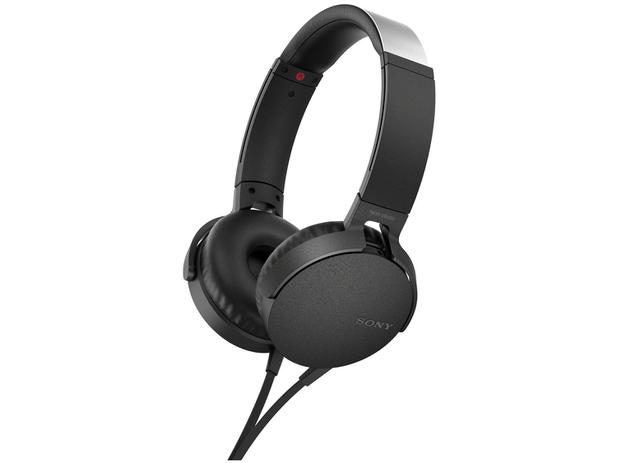 Headphone/Fone de Ouvido Sony com Microfone - MDR-XB550AP