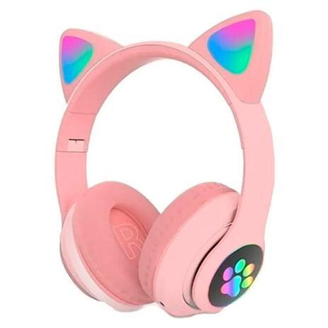 Imagem de Headphone Orelha De Gatinho Fone De Ouvido Bluetooth (Rosa)