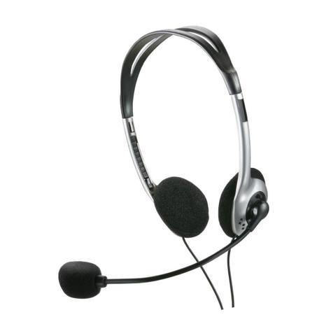 Imagem de Headset Fone com Microfone Preto P2 PH002 Multilaser