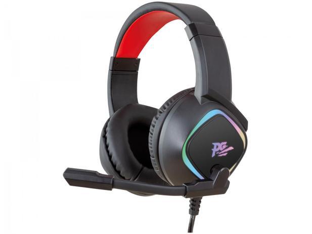 Headset Gamer Philco PHS750 PC 7.1 – Preto e Vermelho