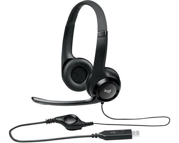 Imagem de Headset Usb Logitech H390 Voip Microfone Volume Pc Notebook