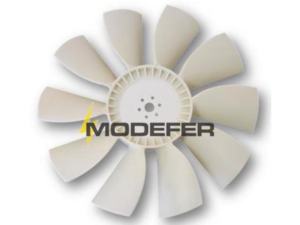 Imagem de Hélice Ventilador O355/5 10 Pás Plástico Motor Traseiro