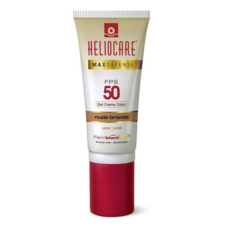 Imagem de Heliocare Max Defense Gel Color Base Protetor Solar FPS 50 50g