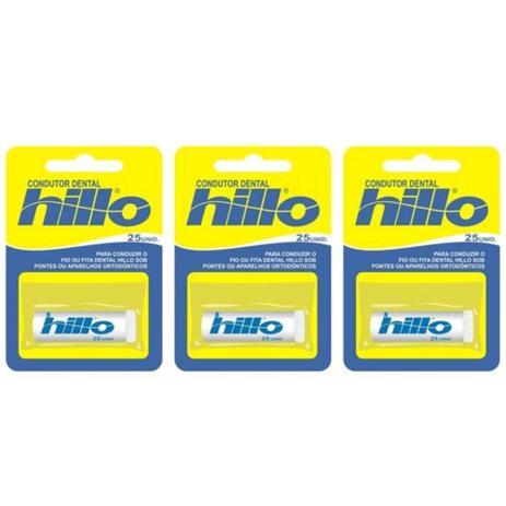 672f04c95 Hillo Passa Fio C 25 (Kit C 03) - Fio dental para dente - Magazine Luiza