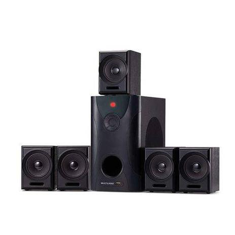 Imagem de Home Theater 5.1 80W RMS com 5 Caixas Satelites Multilaser SP291